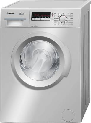 BOSCH 6 kg Fully Automatic Front Load with In-built Heater Silver