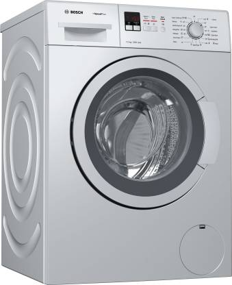 Bosch 7 kg Fully Automatic Front Load with In-built Heater Silver