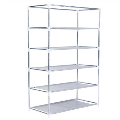 Styleys Shoe Rack with 5 Shelves (Grey) Metal Collapsible Shoe Stand