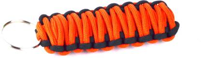 Paracraft Paracord 550 Best Survival Grenade key chain for Camping, Hiking, Outdoor Activities- Orange Black Key Chain