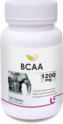 BIOTREX NUTRACEUTICALS BCAA - 1200mg (60 Tablets) BCAA