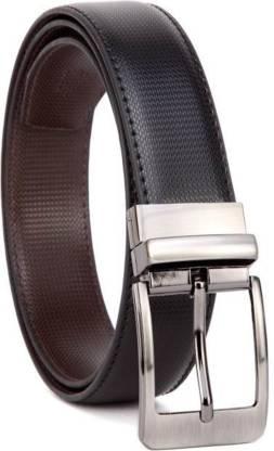 Urban alfami Men Party, Formal, Casual Black Texas Leatherite Reversible Belt