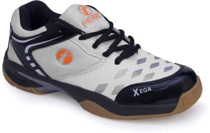 Feroc xega White BLACK Badminton Shoes For Men
