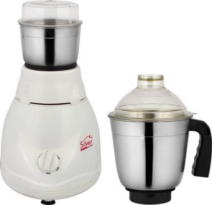 Sliver Home Dx Quity 450 W Mixer Grinder (2 Jars, White)