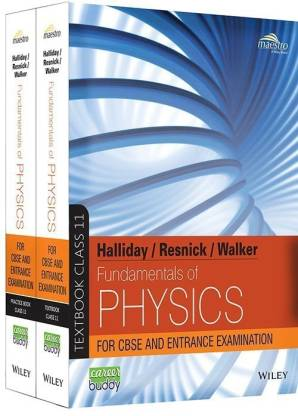 Halliday/ Resnick/ Walker, Fundamentals of Physics (Text and Practice book) 1 set, Class 11
