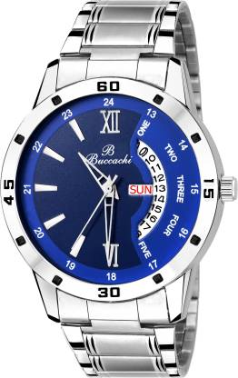 Buccachi B-G5046-BL-CH BLUE DIAL DAY & DATE FUNCTIONING Analog Watch - For Men