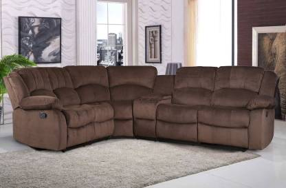 Hometown Lounger Fabric Manual Sectionals Recliner