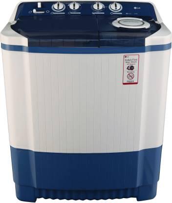 LG 8 kg Semi Automatic Top Load Blue