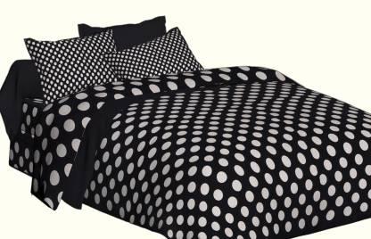 SPANGLE 104 TC Microfiber Double Printed Bedsheet