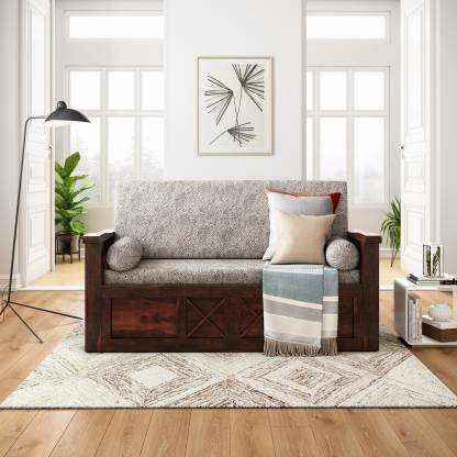 Flipkart Perfect Homes PureWood Sheesham Double Sofa Bed