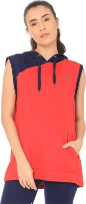Puma Sleeveless Solid Women Sweatshirt