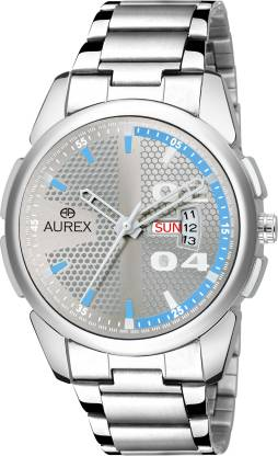 AUREX AX-GR153-SLC Silver color dial day & date working Analog Watch - For Men