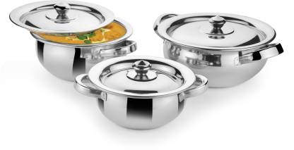 Classic Essentials Handi Set of 3 Cookware Set(Stainless Steel, 3 – Piece)