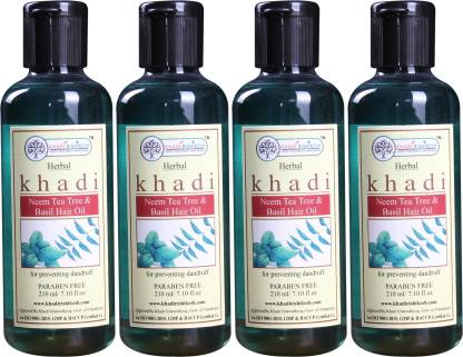 Khadi Rishikesh Herbal Neem Teatree & Basil Pack of 4 Each - Hair Oil