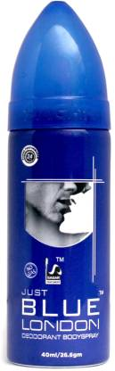 SAGAR JUST BLUE LONDON {MINI} Deodorant Spray  -  For Men & Women