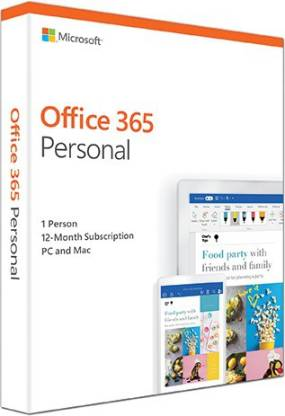 MICROSOFT Office 365 Personal 1 user 1 year