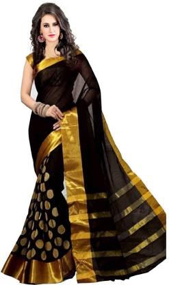 ASHVMEGH Woven Fashion Cotton Silk Saree