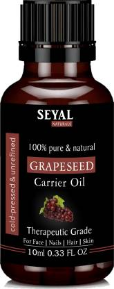 Seyal Grape Seed Oil 100% Pure & Natural, Therapeutic Grade Organic Cold Pressed, For Face, Nails, Hair & Skin