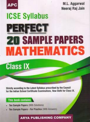 Icse Perfect 20 Sample Papers Mathematics-Ix