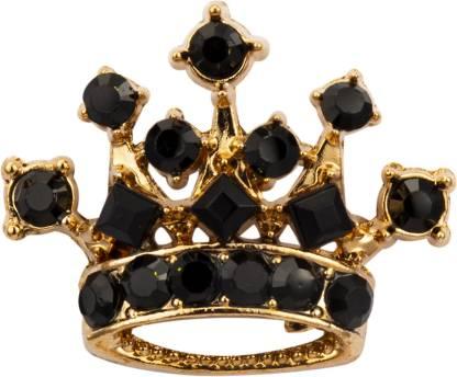 KNIGHTHOOD Golden Crown with Black Swarovski Brooch