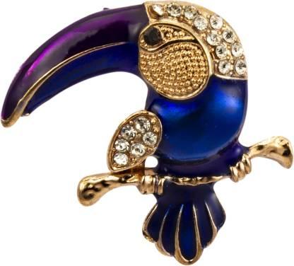 KNIGHTHOOD Royal Blue Gold and Swarovski Detailing Kookaburra Bird Brooch