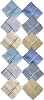 "HRV 100% Cotton Premium Collection Handkerchiefs For Men [""Multicolor""] Handkerchief"