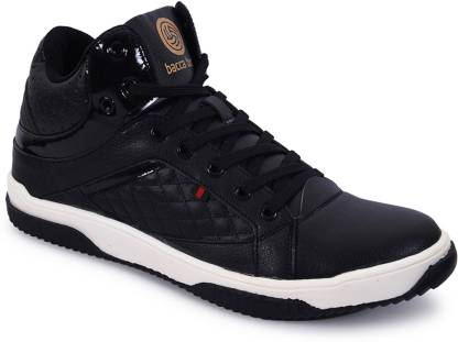Bacca Bucci Men Black Mid Ankle Casaul Lace-ups Basketball Sneakers Basketball Shoes For Men