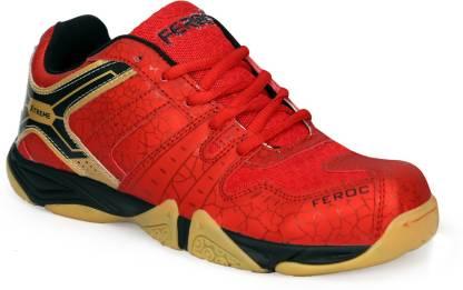 Feroc NOVAB RED Badminton Shoes For Men