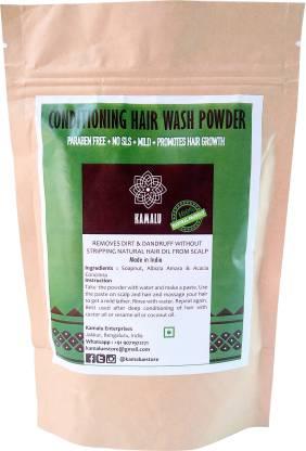 kamalu Natural Conditioning Hair Wash Powder Handmade (150g x 2)(shampoo alternative +No SLS +No Paraben)300 grams