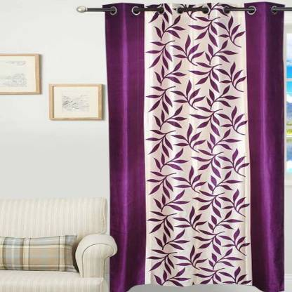 Polyester Door Curtain Single, Purple Color Curtains
