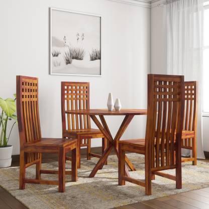 Induscraft Ethina Sheesham Solid Wood 4 Seater Dining Set