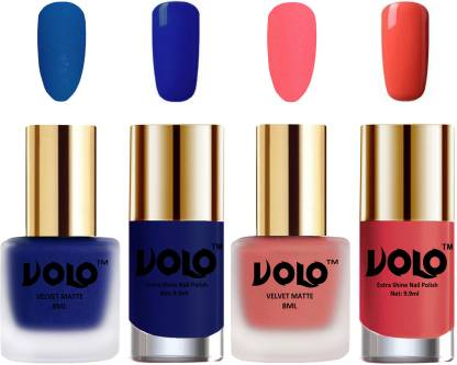 VOLO Extra Shine AND Dull Velvet Matte Nail Polish Magenta