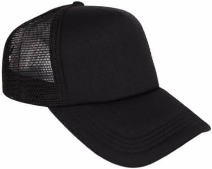 Good Friends Solid Stylish Cotton Baseball Adjustable Black Cap For Men Cap
