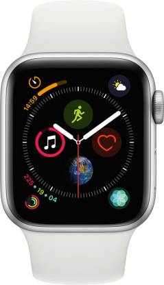 APPLE Watch Series 4 GPS 40 mm Silver Aluminium Case with White Sport Band