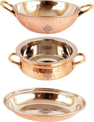 IndianArtVilla Induction Bottom Cookware Set