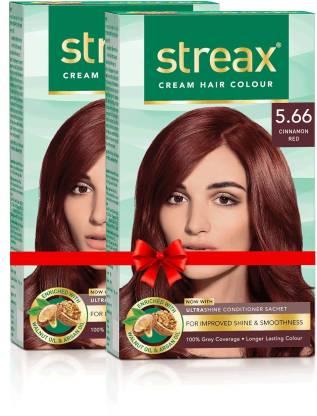 Streax Cream Hair Colour-Pack of 2 , Cinnamon Red No-5.66