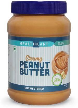 HEALTHKART Peanut Butter Unsweetened, Creamy 1 kg