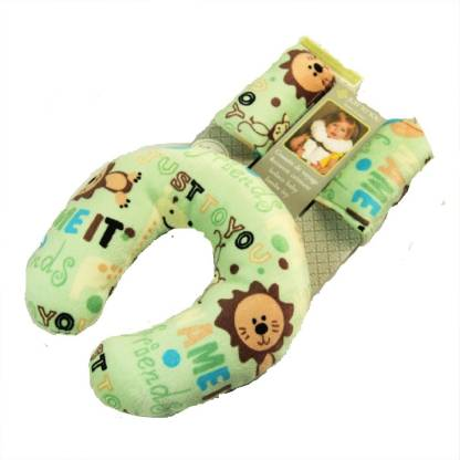 Chinmay Kids Cotton U shape Travel Pillow Green
