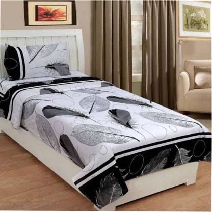 KUKU FAB 180 TC Polycotton Single 3D Printed Bedsheet