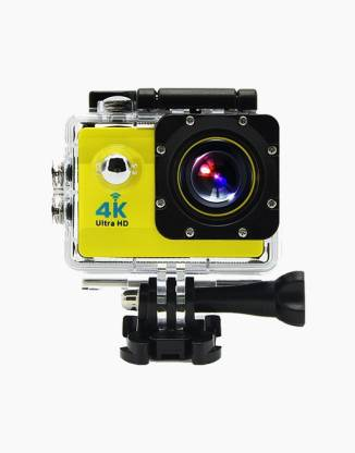OWO G53R Yellow 4K Ultra HD Waterproof Wifi Sports and Adventure Cameras Sports and Action Camera