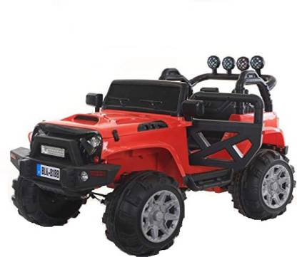 baybee Thaar Battery O perated Ride On Car for Kids with Music, Horn, Headlights with 30Kg Weight Capacity ( Red ) Jeep Battery Operated Ride On