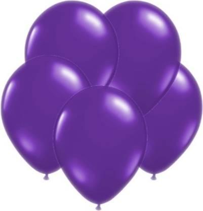 Smartcraft Solid Metallic Balloons - Pack of 100 (Purple) Balloon