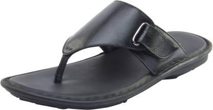 Men Black Flats Sandal