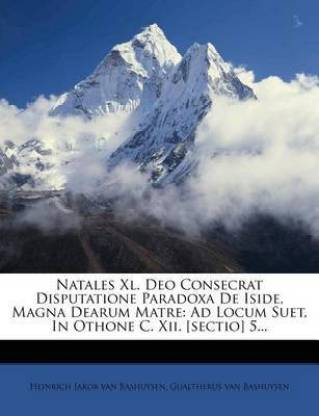 Natales XL. Deo Consecrat Disputatione Paradoxa de Iside, Magna Dearum Matre