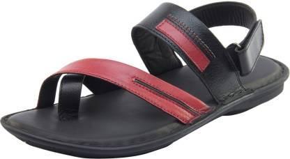 Men Black, Maroon Casual Sandal