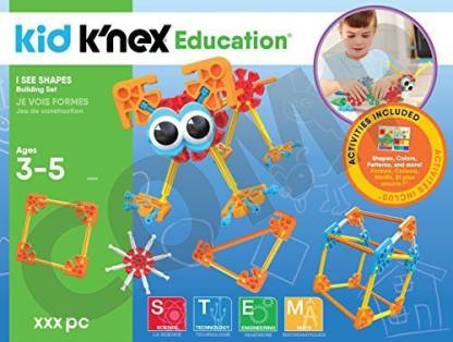 Ages 3-5 Preschool Learning Toy Building Sets KNEX Education Kid I See Shapes Exclusive 61 Piece