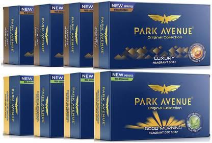 PARK AVENUE LUXURY & GOOD MORNING Fragrant Soap 125gm X 8 Combo of 8