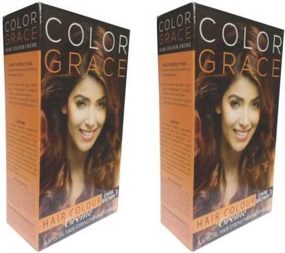 COLORGRACE Hair Color Crème Dark Brown For Women & Men , Dark Brown