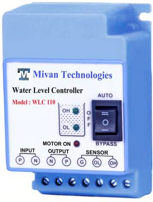 Mivan Technologies Fully automatic Water Level Controller and 3 sensors with water level indications Wired Sensor Security System