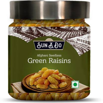 SUN'A'DO Afghani Seedless Green Raisins - 200g Raisins